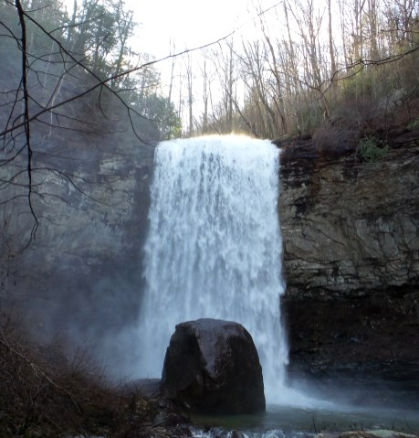 waterfall nature travel hiking trail