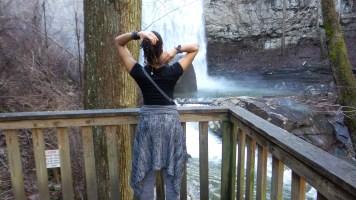 dreadlocks alexis chateau waterfall jamaican hiker
