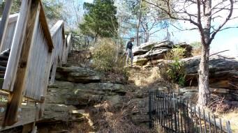 hiking trail rocks travel nature dreads