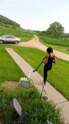 parrott farm green grass nature alexis chateau dreadlocks black woman