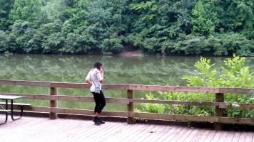 alexis chateau travel hiking lake