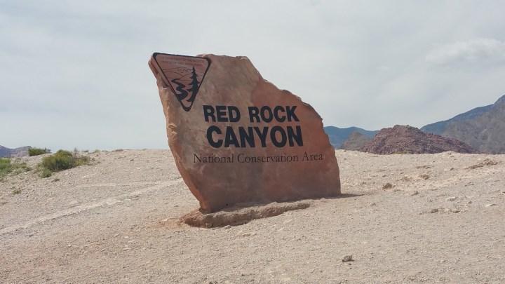 Red Rock Canyon Sign Vegas