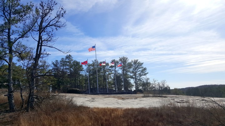 1 Stone Mountain American Confederate Flags