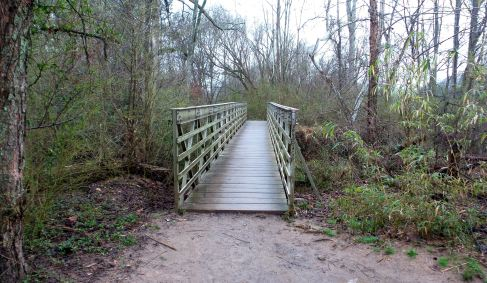 17 East Palisades Bridge on Hiking Trail