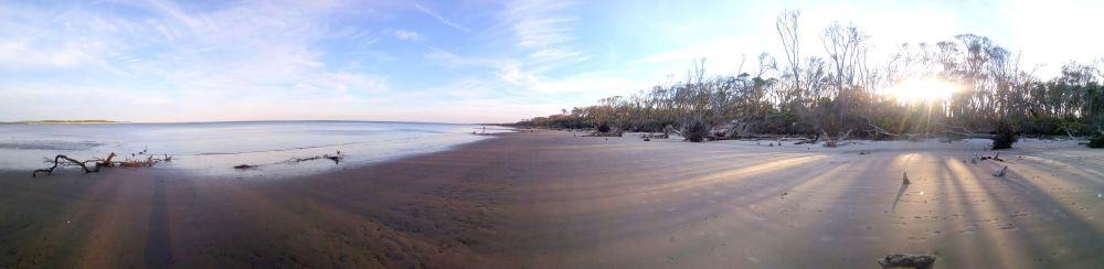 53 Blackrock Beach Panorama Sunset by Winston Murray