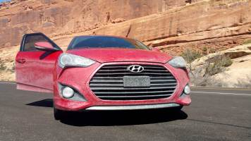 14 Hyundai Veloster at Arches National Park Utah
