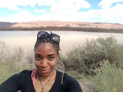 48 Alexis Chateau Selfie Moab Desert