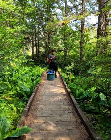 10 Hiking trail to Kayaker's Beach Juneau Alaska