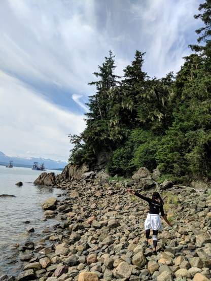 22 Alexis Chateau Kayaker's Beach Juneau Alaska