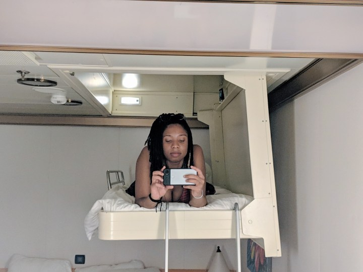 Alexis Chateau Carnival Cruise Loft Bed.jpg