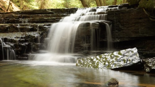 waterfall long exposure photography justin gardner hiking nature