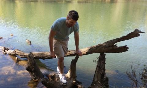 twotonetheartist log river travel hiking trail