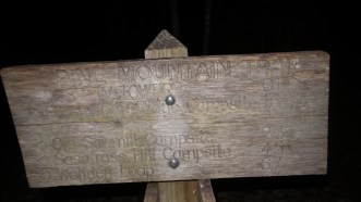 pine mountain trail sign