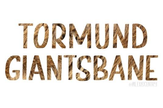 Tormund Giantsbane - Letter Game of Thrones