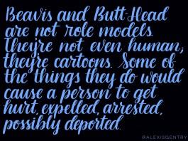 Beavis and Butt-Head warning