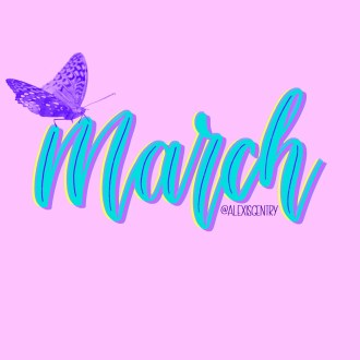March monthly lettering