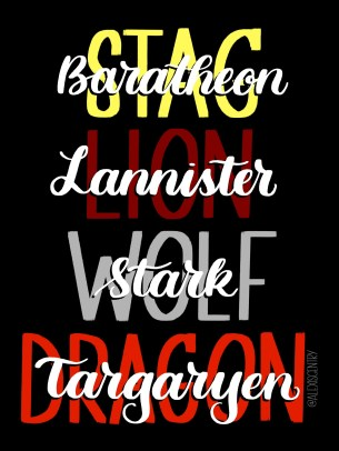 Game of Thrones lettering