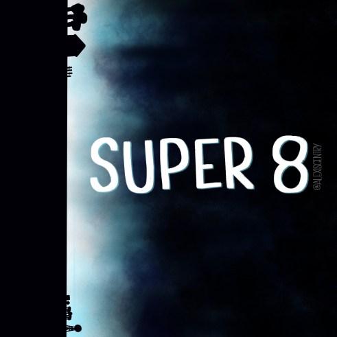 Super 8 lettering