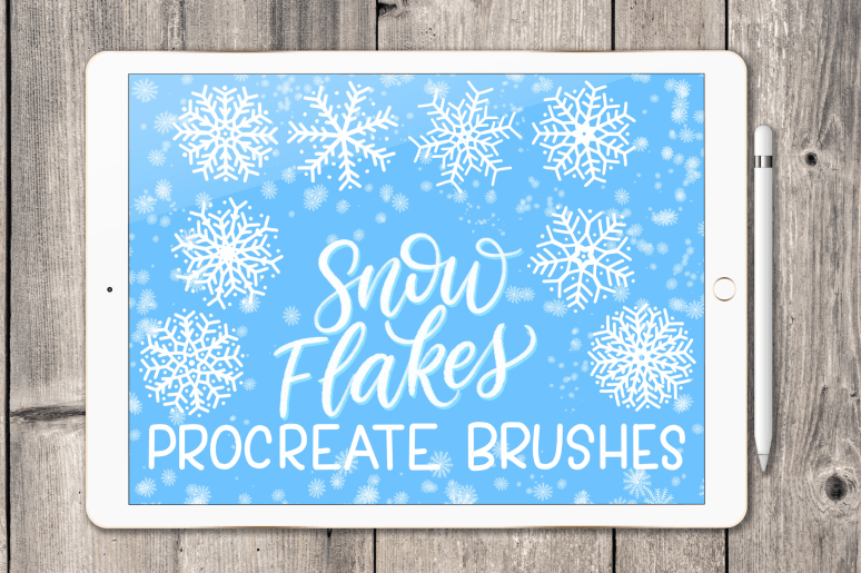 Snowflake Procreate brush set