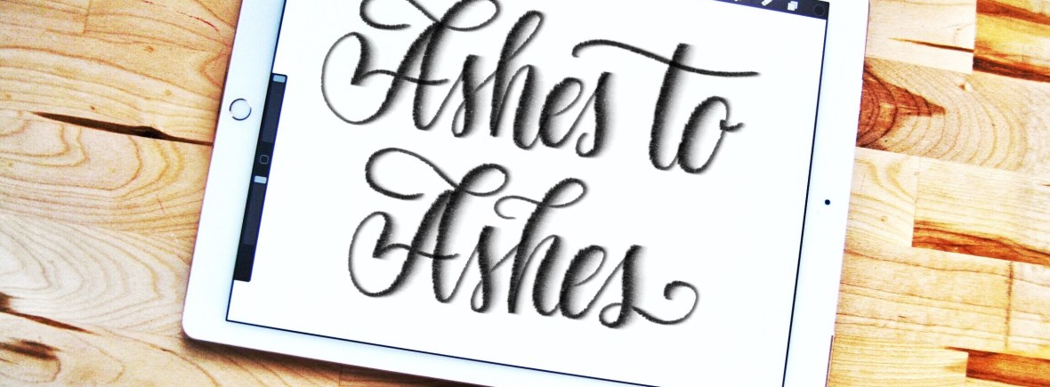 Ashes to Ashes lettering brush for Procreate