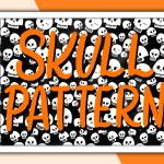 Skull seamless pattern Procreate brush