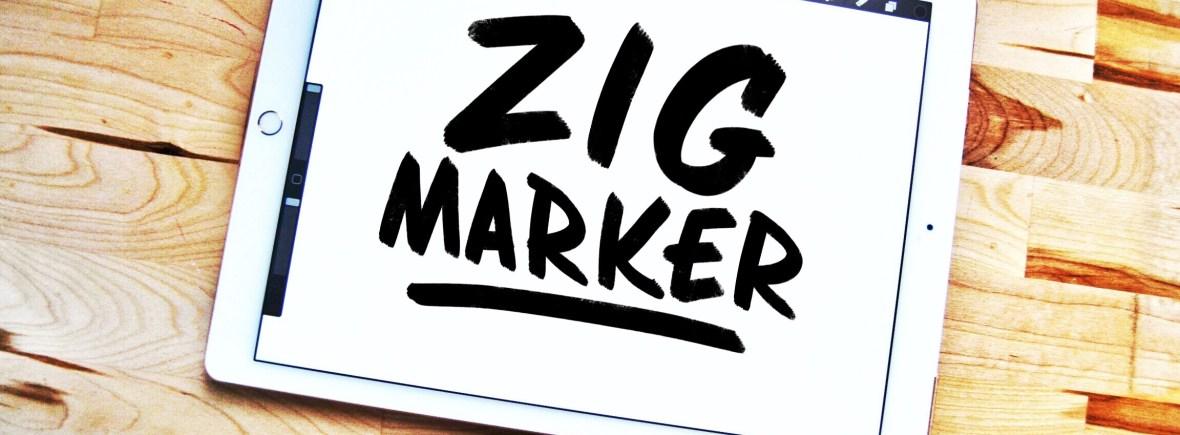 Zig Marker Procreate Lettering Brush