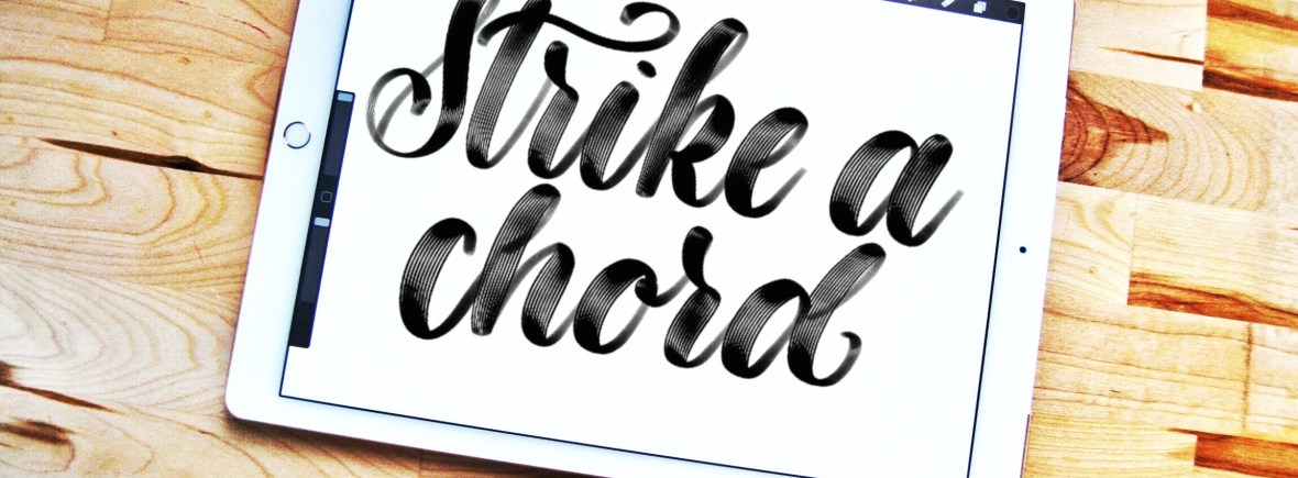 Strike a Chord Procreate lettering brush | Alexis Gentry