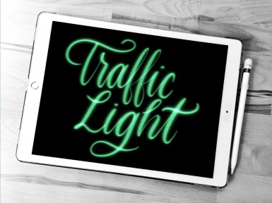 Traffic Light Procreate lettering brush