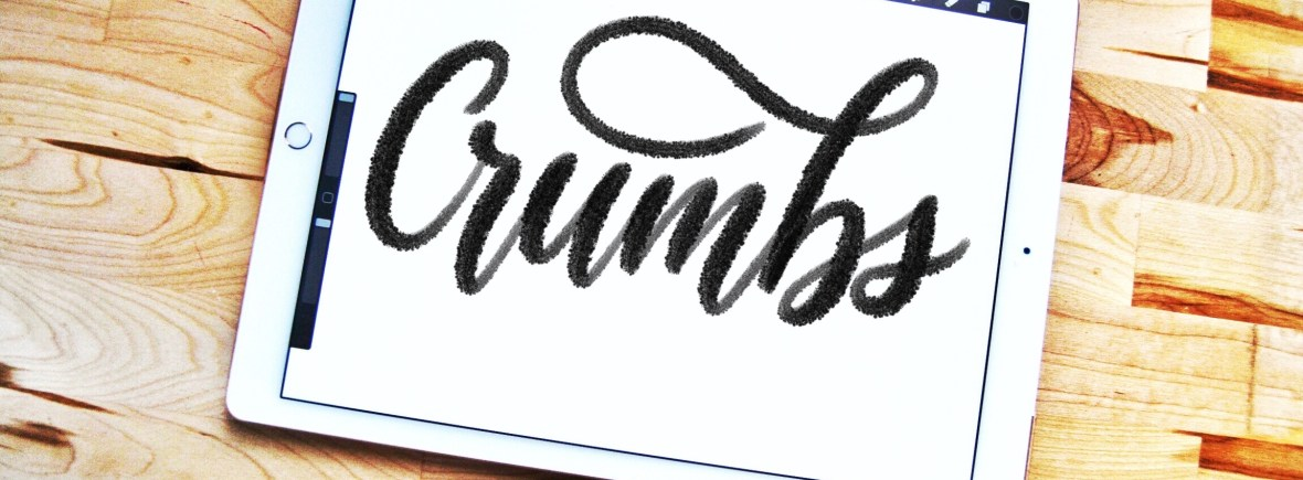 Crumbs Procreate lettering brush