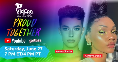 VidCon Now Proud Together James Charles Ashley Strong