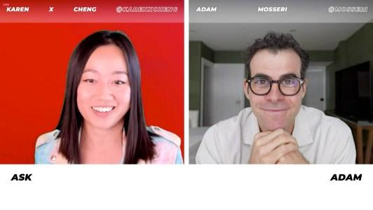 Karen X Cheng and Adam Mosseri at Instagram and Facebook Creator Week