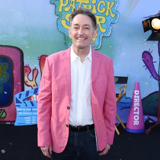 """Tom Kenny at the drive-in premiere of """"The Patrick Star Show"""""""