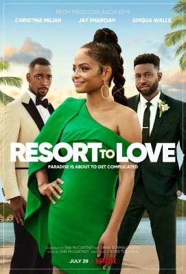 Resort to Love Movie Poster - Christina Milian, Jay Pharoah, Sinqua Walls