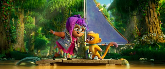 """Gabi and Vivo in Netflix and Sony Pictures Animation's film, """"Vivo"""""""