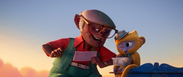 """Vivo, voiced by Lin-Manuel Miranda, and Andrés, voiced by Juan de Marcos, in Netflix and Sony Pictures Animation's """"Vivo"""""""