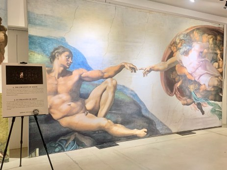 The Creation of Adam at Michelangelo's The Sistine Chapel: The Exhibition