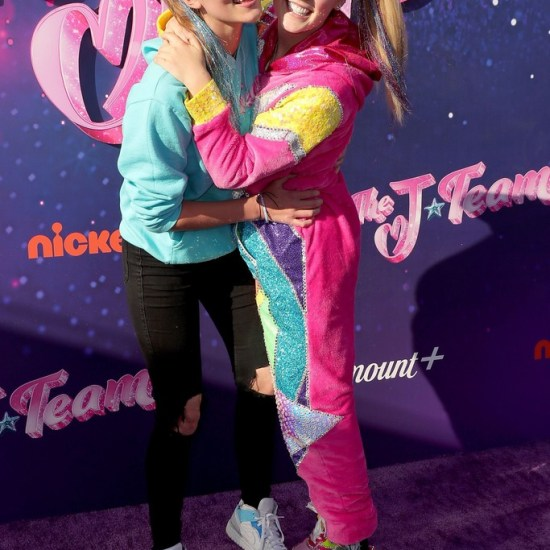 JoJo Siwa and her girlfriend, Kylie Prew at the premiere of The J Team