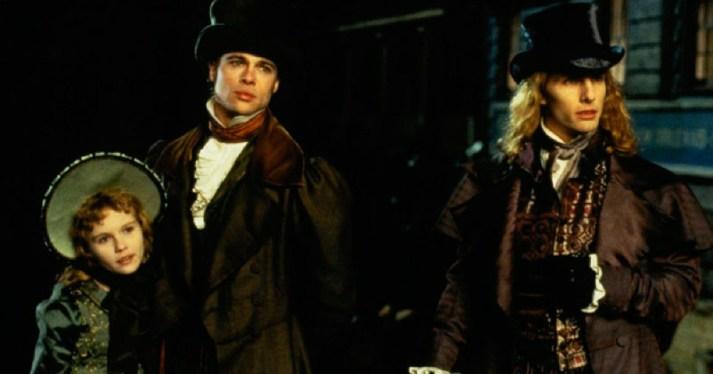Claudia (Kristen Dunst), Louis (Brad Pitt) et Lestat (Tom Cruise) dans le film Entretien avec un vampire sorti en 1994.