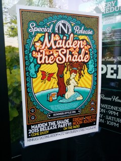 Maiden the Shade release party poster