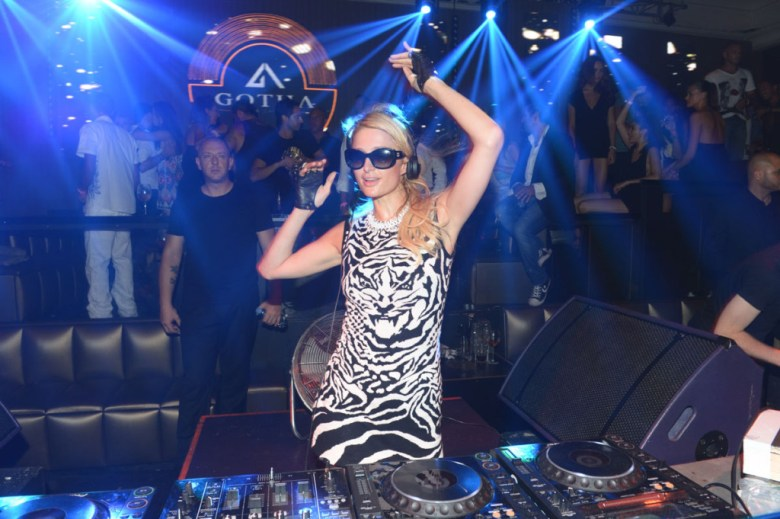 PARIS HILTON at the Paris Hilton's Official Party and DJ Set at the Gotha Club in Cannes
