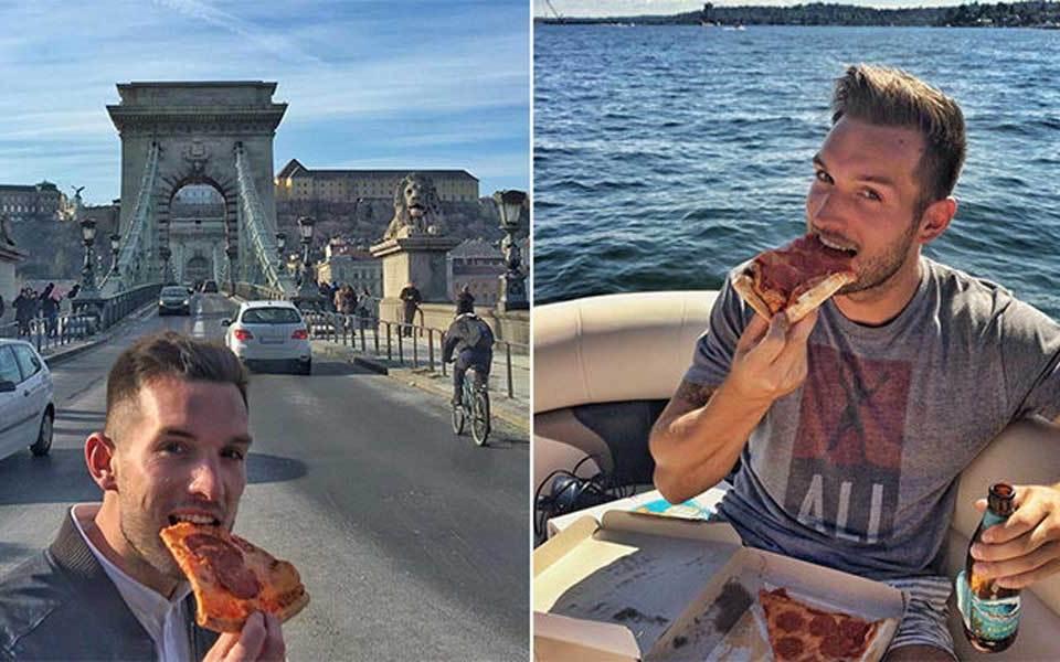 Conoce al chico que recorre el mundo para comer pizza
