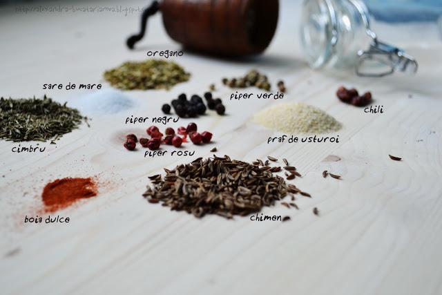 grătar de pui în mix de condimente homemade