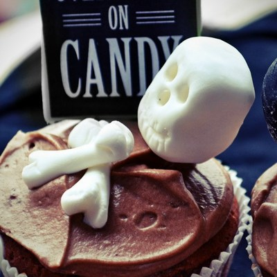 Cupcakes cu ciocolată / Spooky Halloween Cupcakes