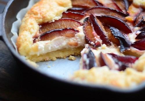 Galette cu prune si mascarpone +pâte brisée