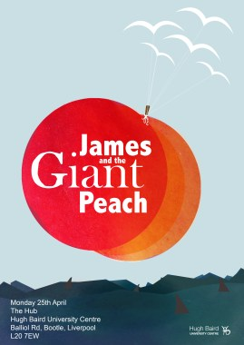 james and the giant peach with type