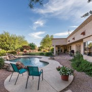 back yard in Scottsdale photo