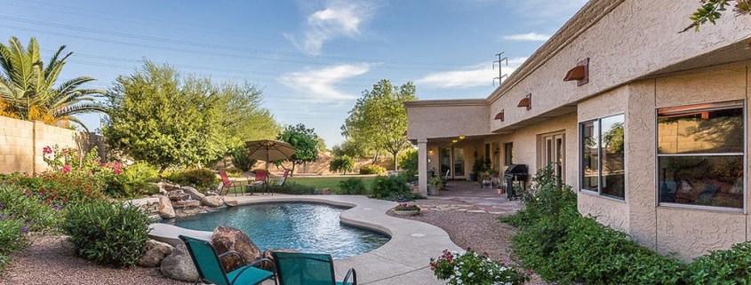 back yard in Scottsdale photo