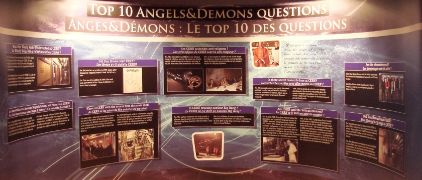 CERN Exhibition: Top 10 Angels&Demons Questions