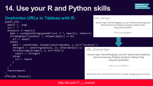 TC17 Social Media Slides: Unshorten URLs in Tableau with R