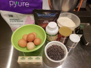 Ingredients - Coconut Flour Chocolate Cake